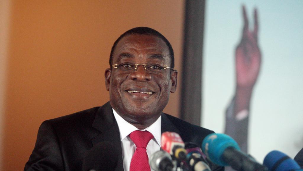 Pascal Affi N'Guessan, président du FPI. AFP PHOTO/HERVE SEVI