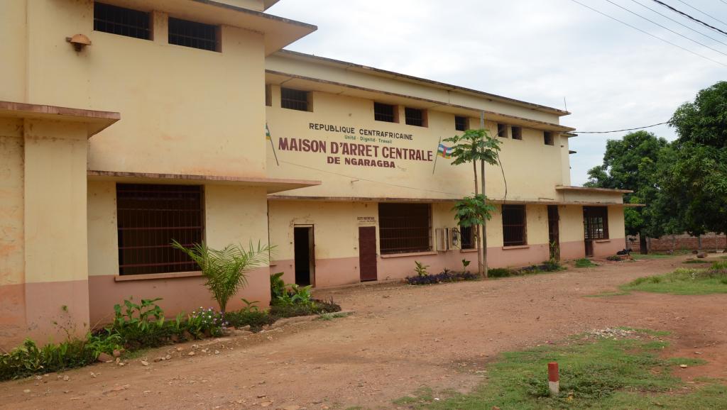 La prison de Ngaragba, à Bangui, le 5 avril 2013. AFP/Patrick Fort