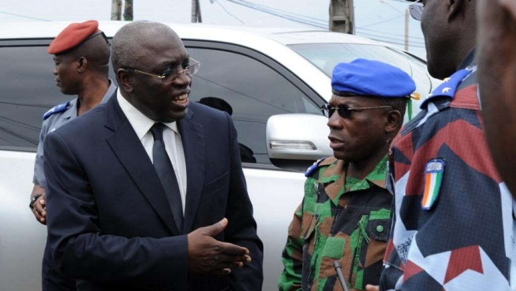 Paul Koffi Koffi, ministre ivoirien de la Défense. AFP PHOTO / SIA KAMBOU