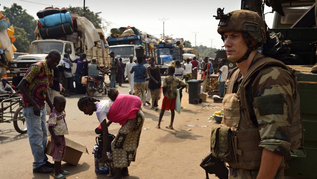 Un soldat français de l'opération Sangaris, à Bangui, le 18 janvier 2014.