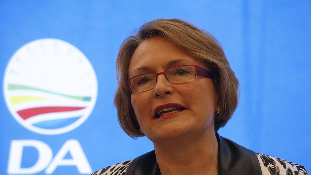 Helen Zille, leader du principal parti d'opposition en Afrique du Sud, l'Alliance démocratique (DA). REUTERS/Mike Hutchings