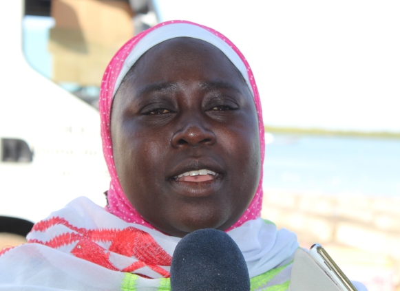 la présidente de l'association Aminata Diène.