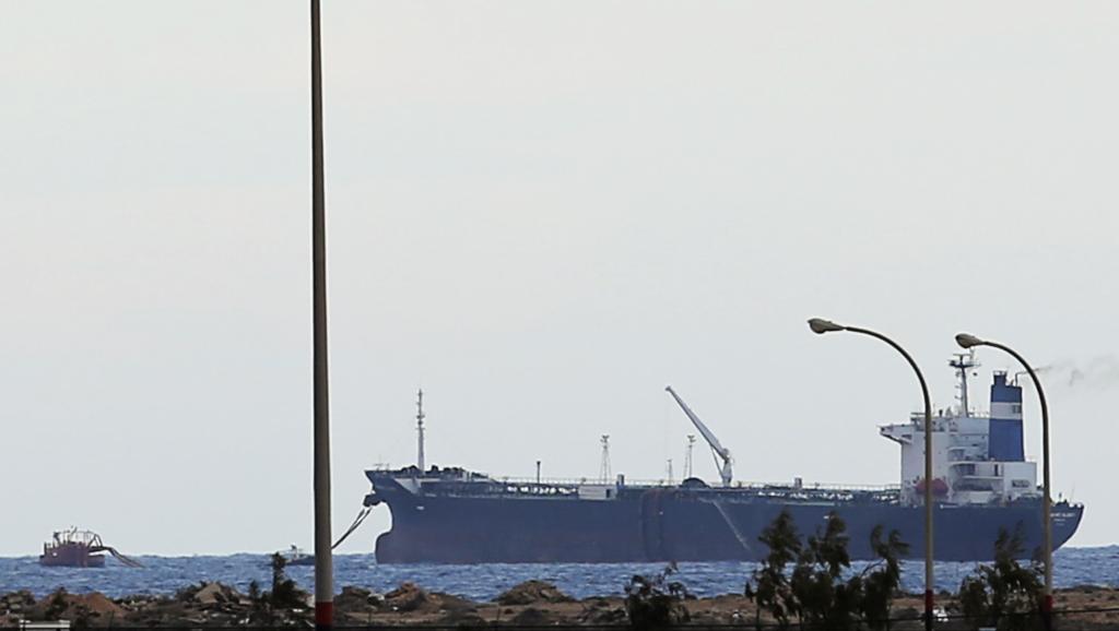 Le pétrolier nord-coréen «Gloire du matin» dans le port d'Al-Sedra, en Cyrénaïque, dans l'est de la Libye, le 8 mars 2014.