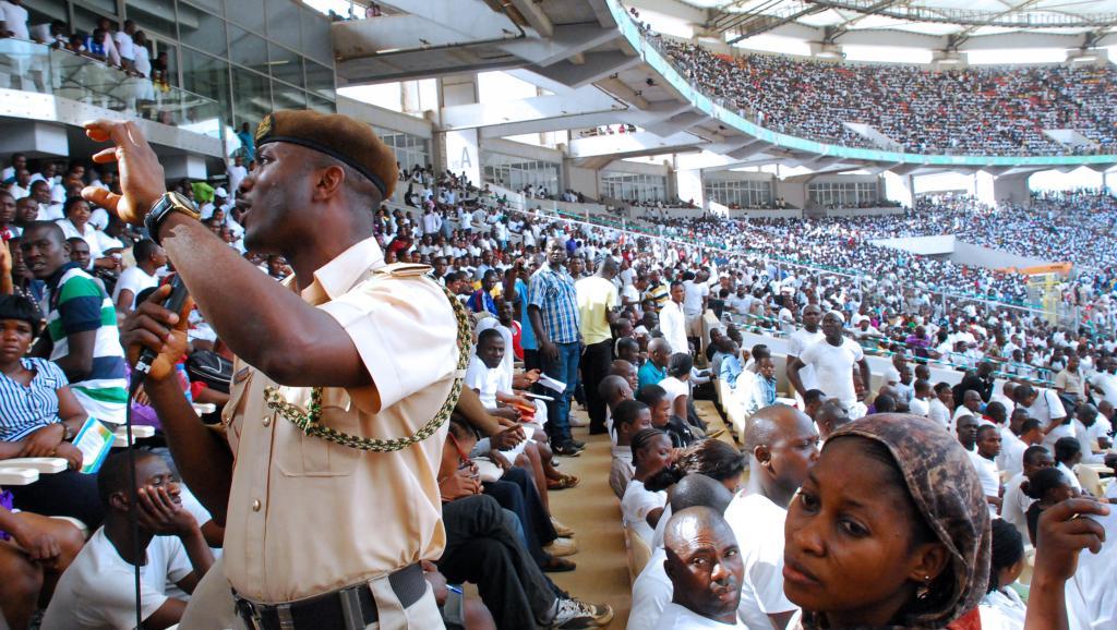 Le stade national d'Abuja où se tenait, ce samedi 15 mars, un concours de recrutement dans la fonction publique.