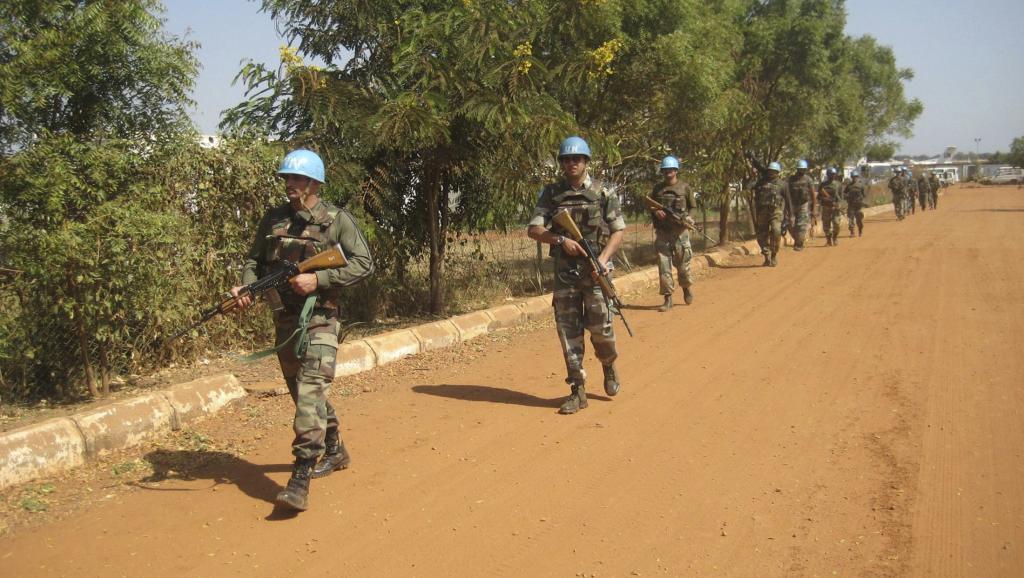 Patrouille de casques bleus aux alentours de Juba, le 16 décembre 2013