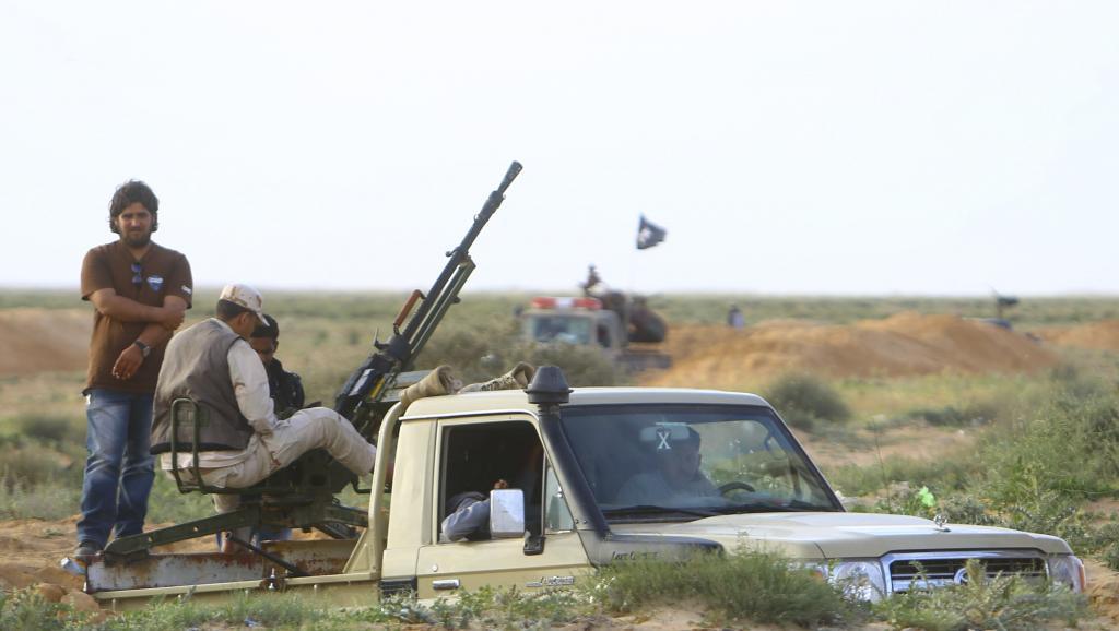 Une véhicule appartenant aux forces fidèles à Ibrahim Jadhran, à Ajdabiya, le 22 mars 2014.