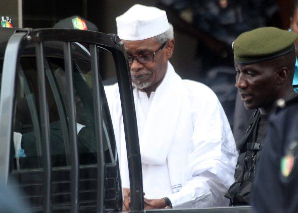 L'ex-président Tchadien, Hissen Habré lors de son audition par le tribunal de Dakar en 2006 (Photo HRW)