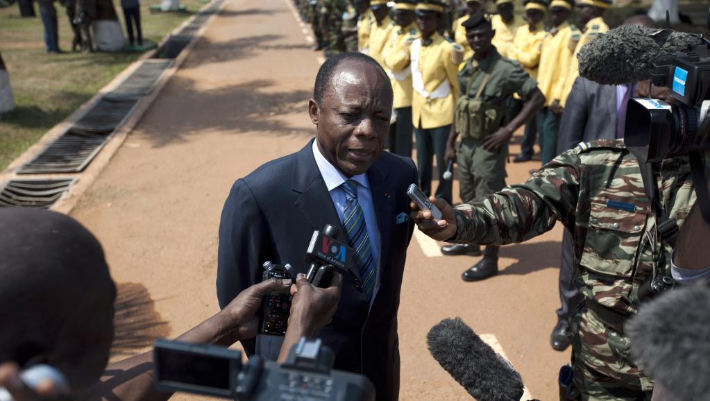 Lé général Jean-Marie Michel Mokoko, le 19 décembre 2013 à Bangui