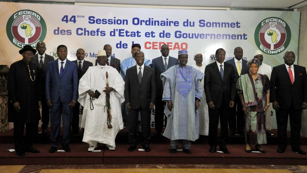 Les 15 chefs d'Etat de la Cédéao sont réunis ces 28 et 29 mars à Yamoussoukro, en Côte d'Ivoire. AFP PHOTO / ISSOUF SANOGO