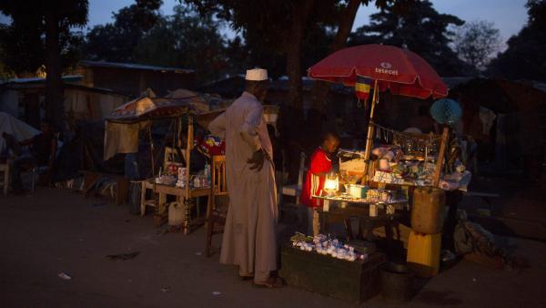 Dans le quartier du PK12, un quartier occupé par des musulmans de Bangui. REUTERS/Siegfried Modola