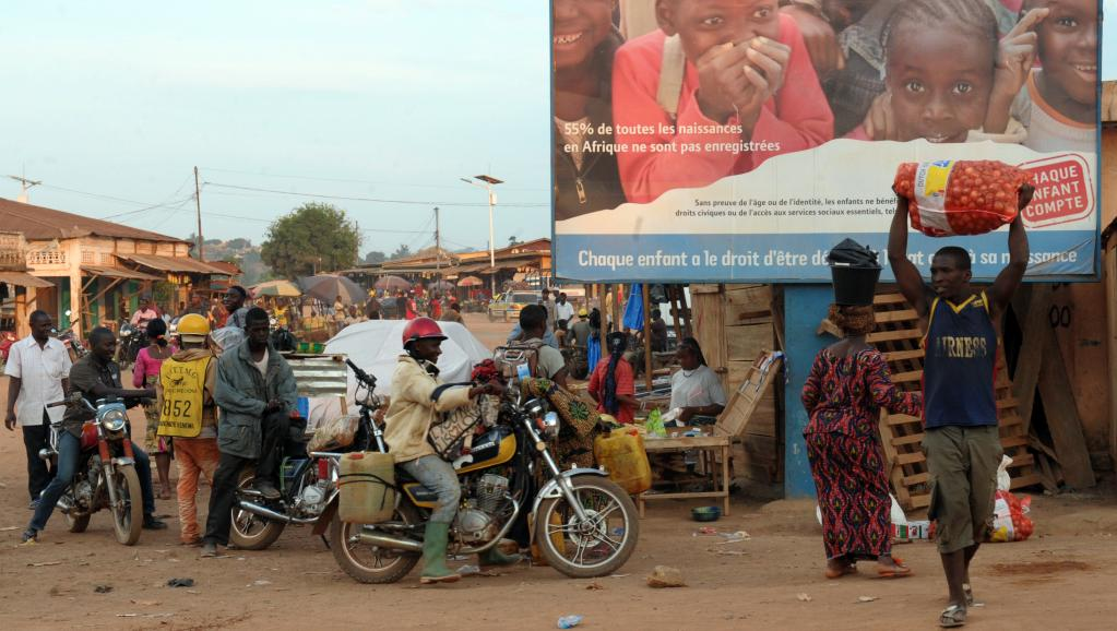 Marché de Gueckédou en Guinée.