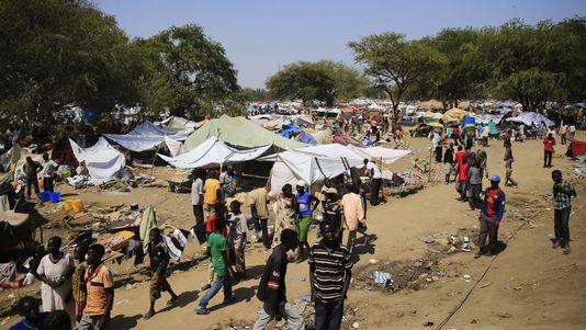 Le camp de réfugiés de l'ONU à Bor, ici le 25 décembre 2013, est situé à 180 kilomètres de la capitale Djouba. [James Akena - Reuters]