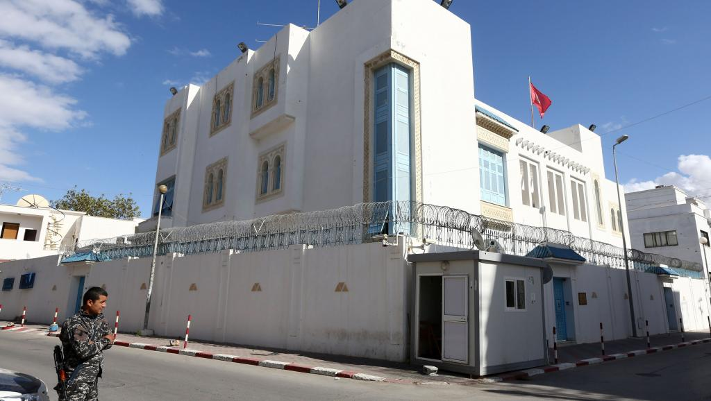 L'ambassade de Tunisie à Tripoli, le 17 avril 2014.