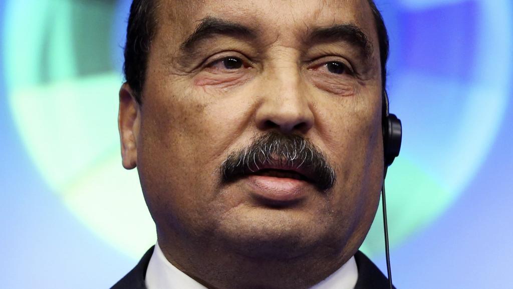 Mohamed Ould Abdel Aziz, le président mauritanien, à Bruxelles lors du sommet UE-Afrique du 3 avril 2014. REUTERS/Francois Lenoir