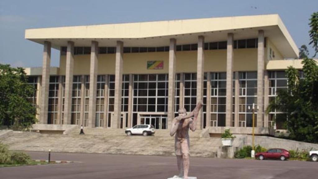 Vue extérieure du Palais du Parlement du Congo-Brazzaville assemblee-nationale.cg