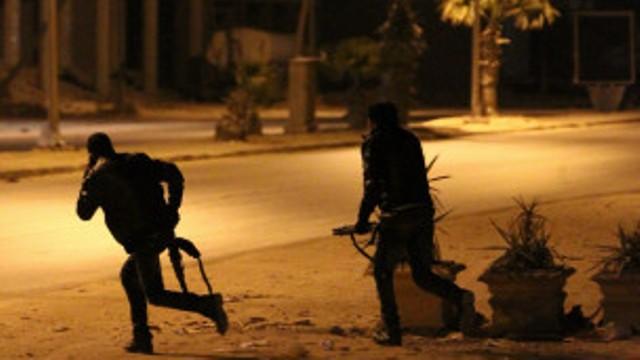 Les forces spéciales à la poursuite des assaillants.