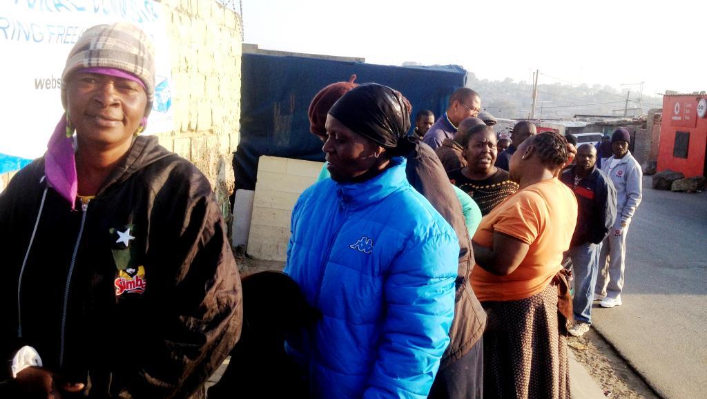 Le scrutin de mercredi s'était déroulé dans le calme à Johannesburg. RFI/Alexandra Brangeon