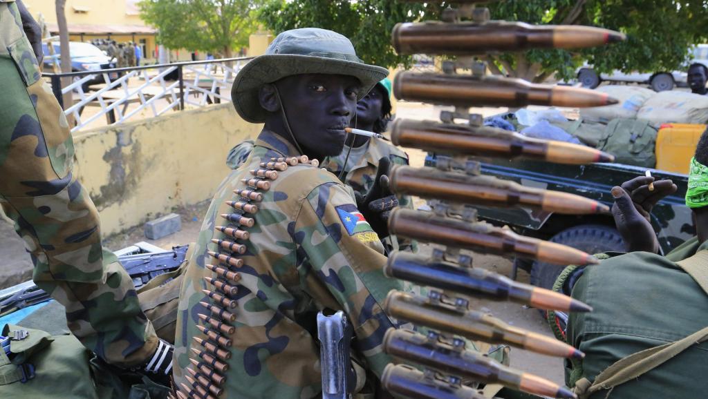 Soldat de l'armée du Soudan du Sud.