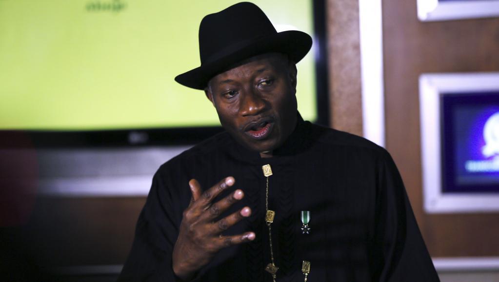 Le président nigérian, Goodluck Jonathan, lors du Forum économique mondial à Abuja, le 9 mai 2014. REUTERS/Afolabi Sotunde