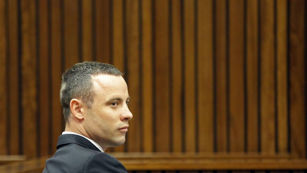 Oscar Pistorius, lors de l'audience du lundi 12 mai 2014, à Johannesburg. REUTERS/Kim Ludbrook/Pool