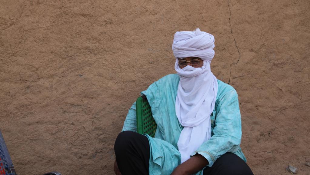 Mohamed Ag Intallah, l'un des fils de l'Aménokal président du Haut Conseil pour l'Unité de l'Azawad (HCUA) signataire avec le MNLA de l'accord de Ouagadougou. RFI / Claude Verlon