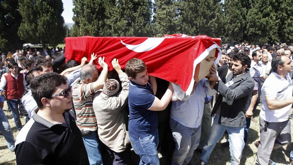 Les obsèques d'un mineur de Soma, le 15 mai 2014.