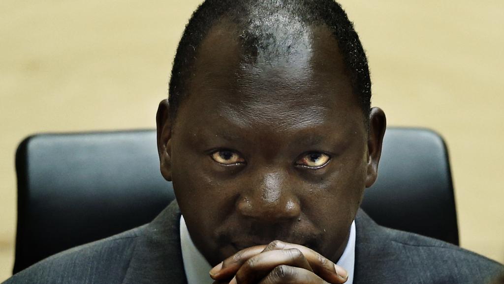 Le chef de guerre congolais Thomas Lubanga lors de son premier procès en première instance de la Cour pénale internationale (CPI), le 10 juillet 2012.