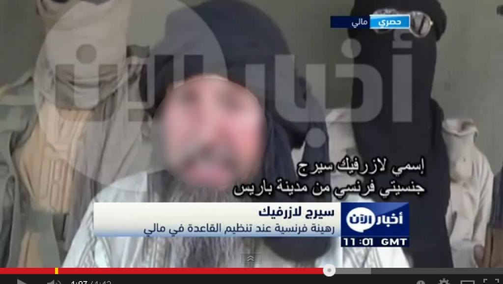 Copie d'écran de la vidéo diffusée le 3 juin 2014 montrant Serge Lazarevic. DR