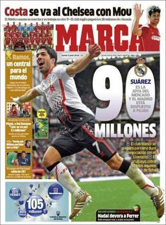 Transfert: Le Real prêt à mettre 90 à 100 M€ pour Luis Suarez