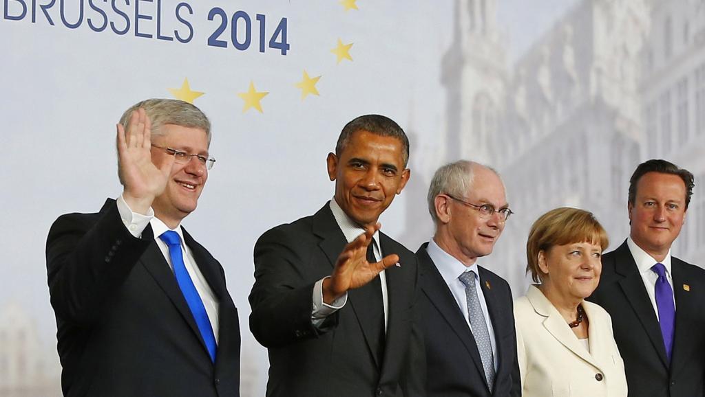 Dirigeants du G7, à Bruxelles, le 5 juin 2014. REUTERS/Yves Herman