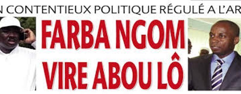 Parti présidentiel-Le démon de la division toujours à Ogo (Matam): Abou LO de l'APR authentique contre Farba Ngom, APR historique
