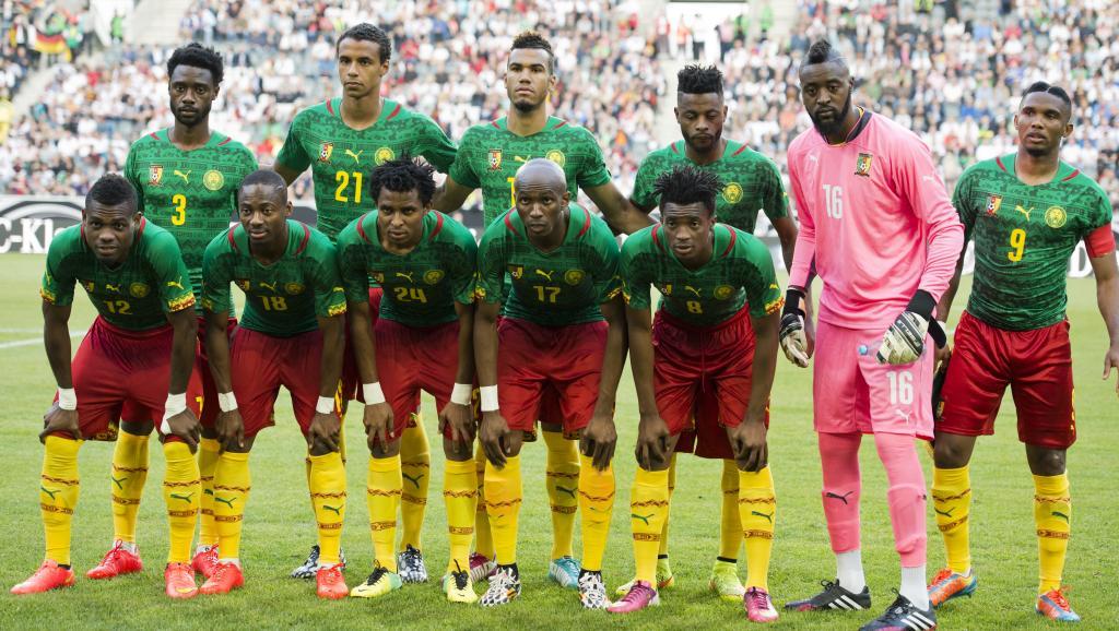 La sélection camerounaise. JOHN MACDOUGALL / AFP