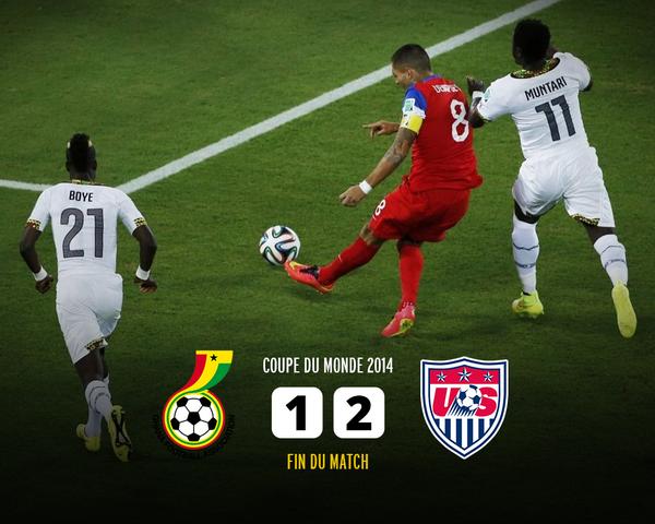 CDM 2014 Ghana-Etats-Unis: Une histoire de 2 buts à 1