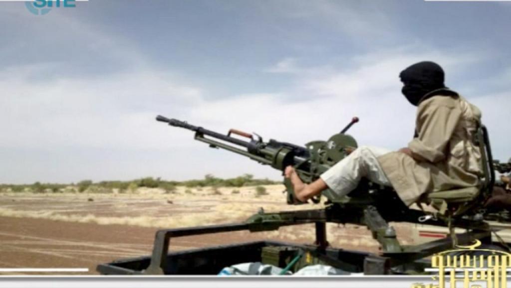 Un combattant d'Aqmi, dans le nord du Mali, en janvier 2013. AFP PHOTO / SITE Monitoring Service