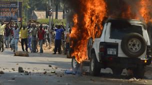 Scène de violence en Centrafrique