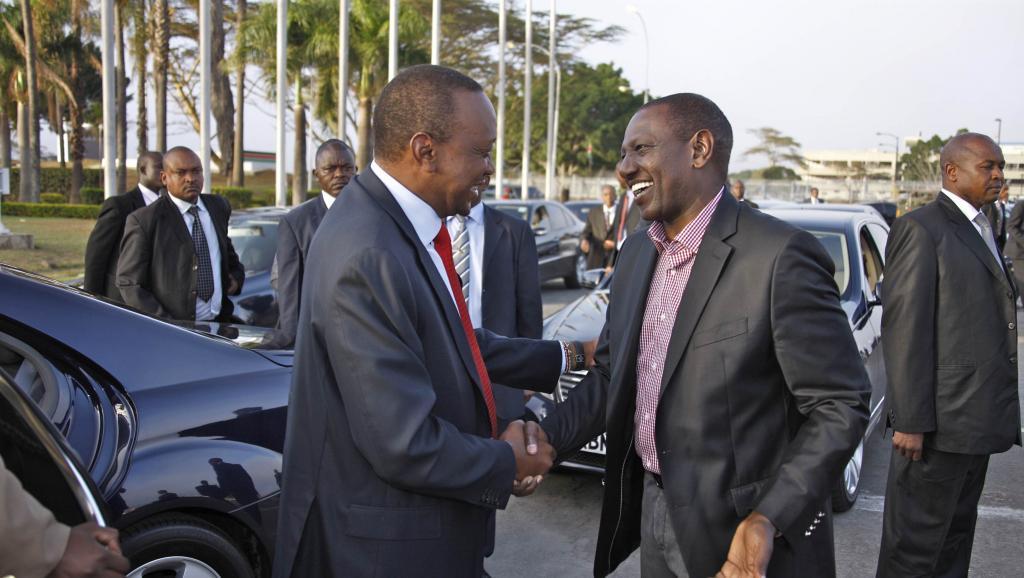 Les procédures de la CPI visant le président kényan Uhuru Kenyatta et son vice-président William Ruto (ici en décembre 2013), ont probablement été à l'origine de la décision des dirigeants de l'UA.
