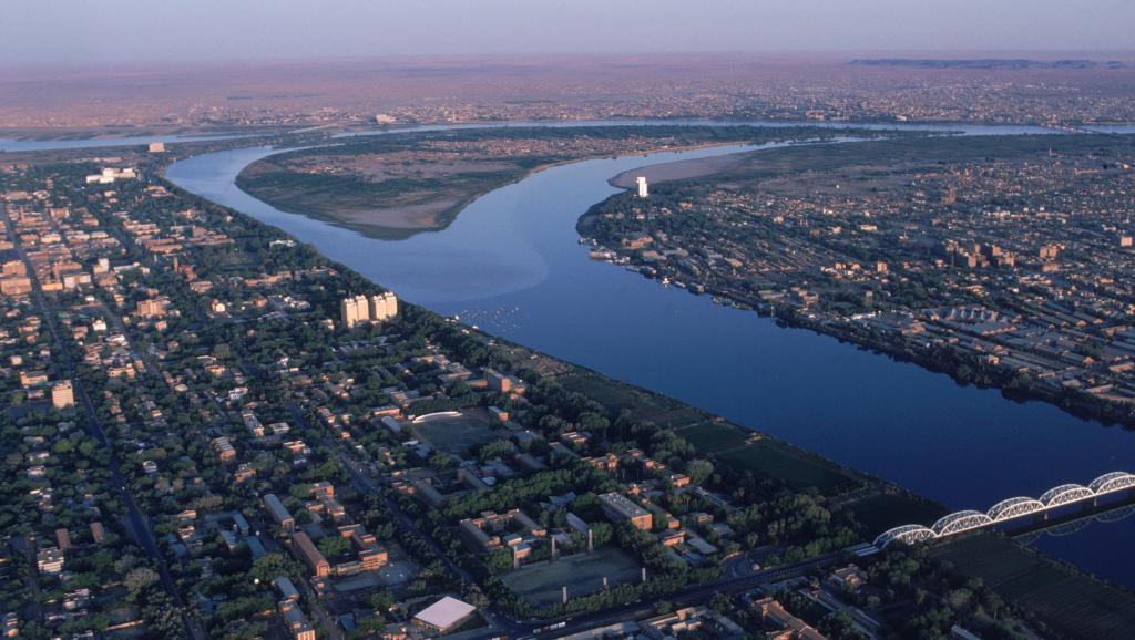 Vue arienne de Khartoum, Soudan. Getty Images/ Robert Caputo