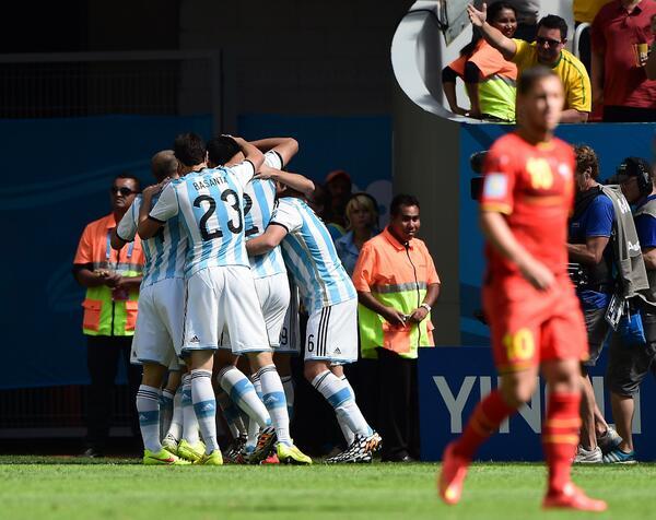 CDM Argentine 1-0 Belgique: Higuain fait l'essentiel à la 7e et l'Albiceleste en 1/2