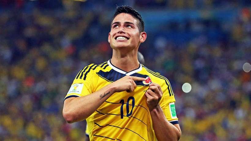 James tout sourire à l'idée de jouer au Real Madrid