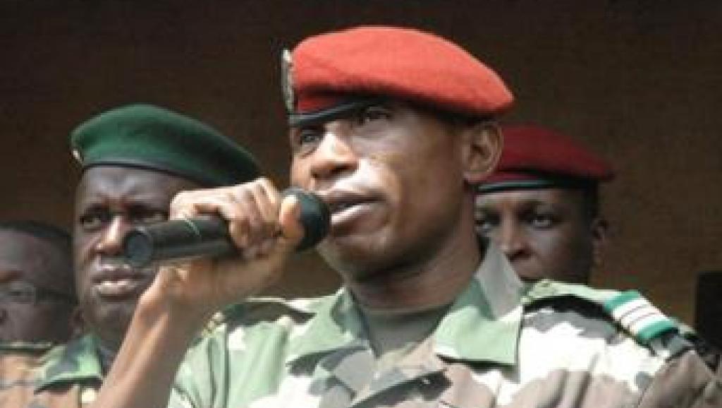 Le capitaine Moussa Dadis Camara, en 2009. L'ex-président de la junte guinéenne a été entendu en tant que témoin dans le cadre de l'enquête sur le massacre de Conakry du 28 septembre 2009. Laurent Correau / RFI