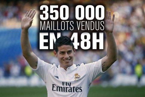 Real: 350 000 maillots au nom de James Rodriguez déjà vendus !