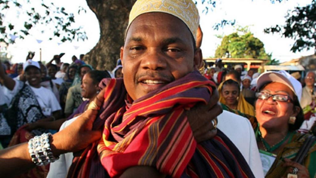 Ikililou Dhoinine, le président élu des îles Comores à Moheli, 11 novembre 2010. Ibrahim Yossouf /AFP