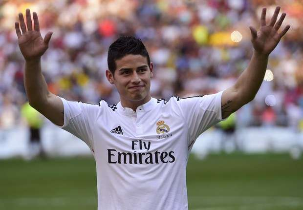 Real Madrid: James Rodriguez  attend Falcao
