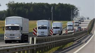 Le convoi humanitaire de près de 3 kilomètres de long est parti de Moscou mardi à destination de l'Est de l'Ukraine.