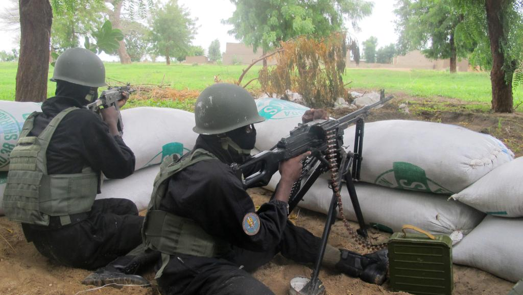 Des militaires camerounais de la force d'intervention anti-Boko Haram, le 17 juillet dernier, dans le nord du Cameroun.