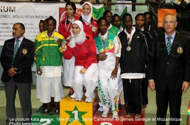 Karaté-Champ d'Afrique- Kata : L'Egypte en or, le Sénégal en Bronze