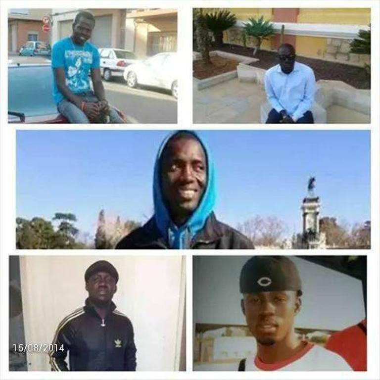 Exclusif Images des cinq Sénégalais décédés  en Espagne