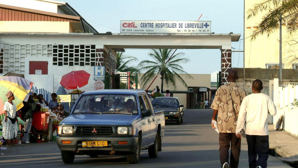 Le centre universitaire (CHU) de Libreville au Gabon a été paralysé par une grève du personnel de santé durant deux semaines. AFP PHOTO / STR