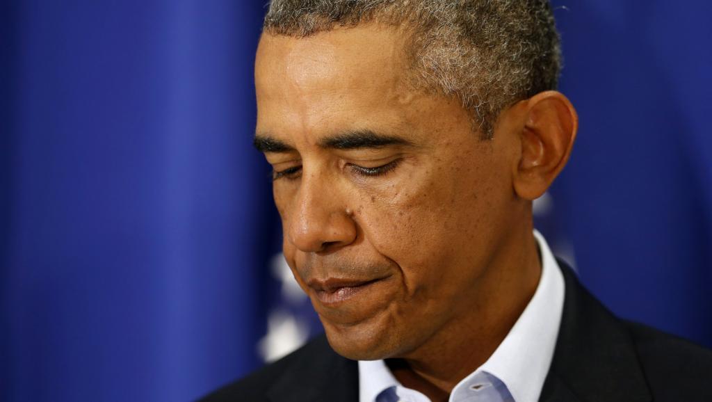 Barack Obama s'est exprimé depuis son lieu de vacances, mercredi 20 août, après l'assassinat du journaliste James Foley. REUTERS/Kevin Lamarque