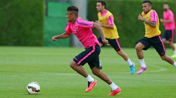 Barca : Neymar blessé à l'entraînement